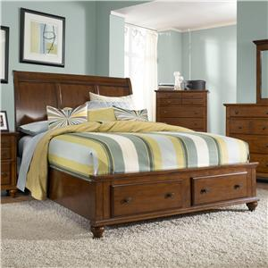 Queen Headboard and Storage Footboard Sleigh Bed