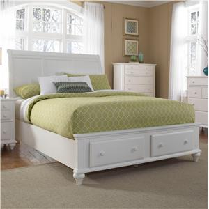 Broyhill Furniture Hayden Place King Sleigh Bed with Storage Footboard
