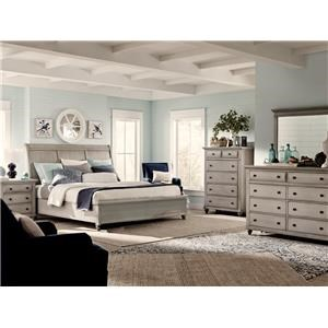 Discontinued Queen Sleigh Bedroom Set - 7pc