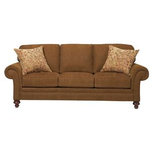 Upholstered Stationary Sofa with Rolled Arms