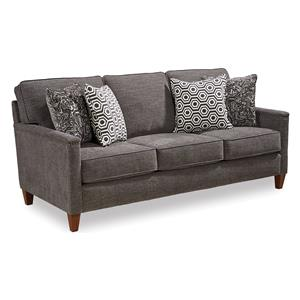 Contemporary Sofa with Track Arms and Nailhead Trim