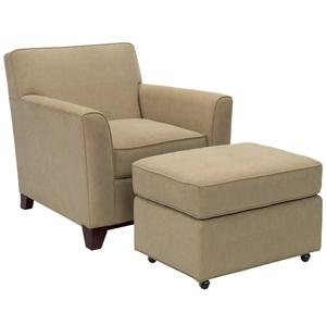 Broyhill Furniture Layla Upholstered Chair & Ottoman