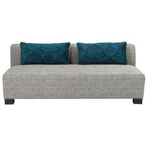 Broyhill Furniture Milo Contemporary Armless Loveseat