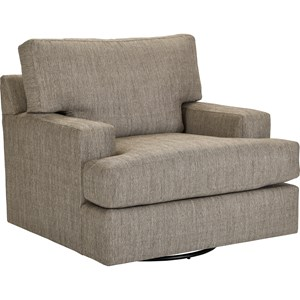 Large Swivel Chair with Track Arms