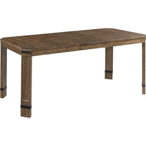 Dual Height Leg Table with Metal Accents