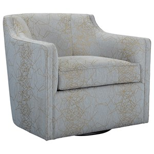 Gayle Swivel Chair with Curved Barrel Back