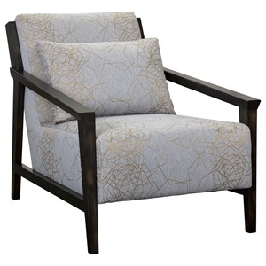 Pacey Chair with Exposed Wood Frame