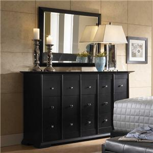 Broyhill Furniture Perspectives Dresser & Rectangular Mirror
