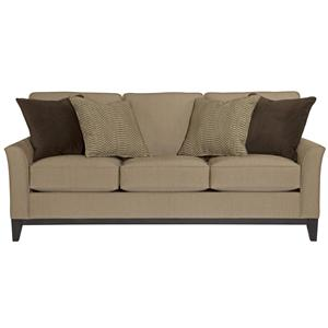 Stationary Sofa with Exposed Wood Tapered Legs