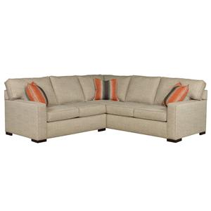 Broyhill furniture raphael contemporary sectional sofa for Broyhill chaise lounge cushions