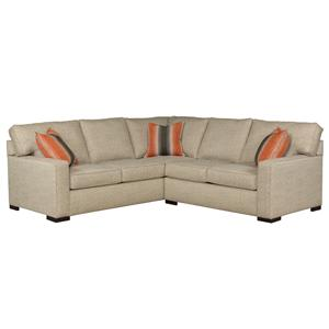 Broyhill furniture raphael contemporary sectional sofa for Broyhill chaise lounge