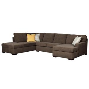 Broyhill Furniture Raphael Three Piece Sectional Sofa