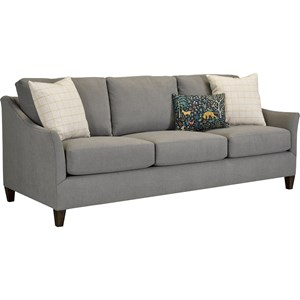 Transitional Sofa with Flared Tapered Arms