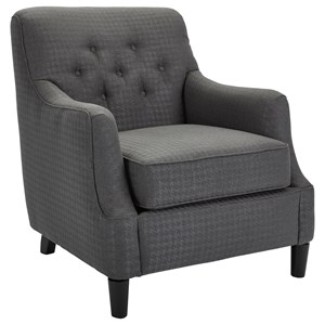 Transitional Chair with Tufted Back