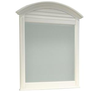 Dresser Mirror with Arched Louver Top