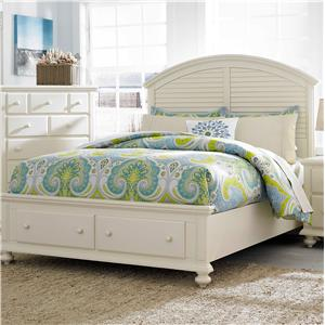 Broyhill Furniture Seabrooke Cal King Panel Bed with Storage Footboard
