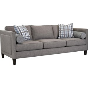 Transitional Sofa with Tapered Wood Feet