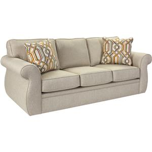 Traditional Sofa with Oversize Rolled Arms