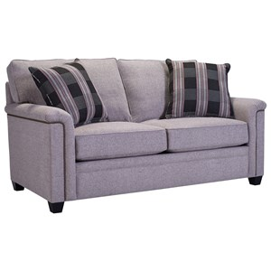 Loveseat with Nailhead Trim Accents