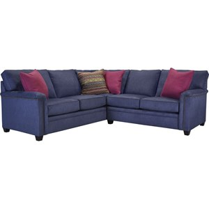 LAF Corner Sofa Sectional with Nail Head Trim