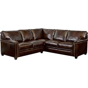 RAF Corner Sofa Sectional with Nail Head Trim