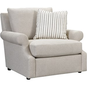 Casual Chair with Loose Pillow Back
