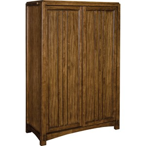 Sliding Door Chest with Pull Out Garment Bar