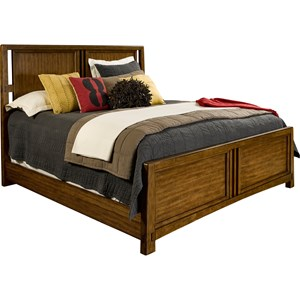 Queen Panel Bed in Bold Cafe Finish