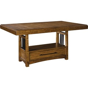 """Adjustable Height Trestle Table with 2 16"""" Leaves"""