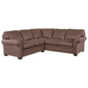Sectional Sofa with LAF Corner Sofa and Rolled Arms