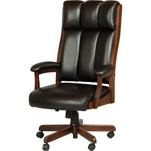 Clark Executive Chair with Solid Wood Frame