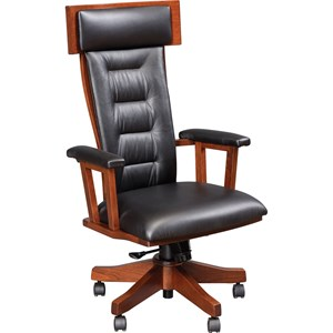 London Arm Desk Chair with Casters