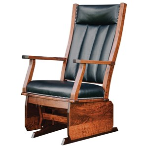 Mission Solid Wood Glider with Nailhead Trim