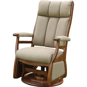 Pairs Swivel Glider with Padded Arms