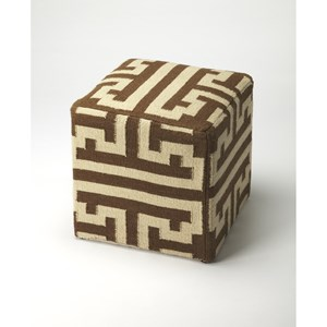 Labyrinth Wool Pouffe
