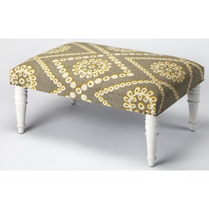 Lucinda Upholstered Cocktail Ottoman