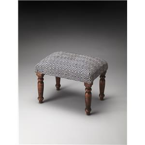Manto Cotton Upholstered Stool
