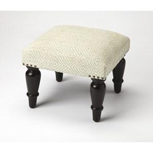 Samina Ivory Upholstered Stool
