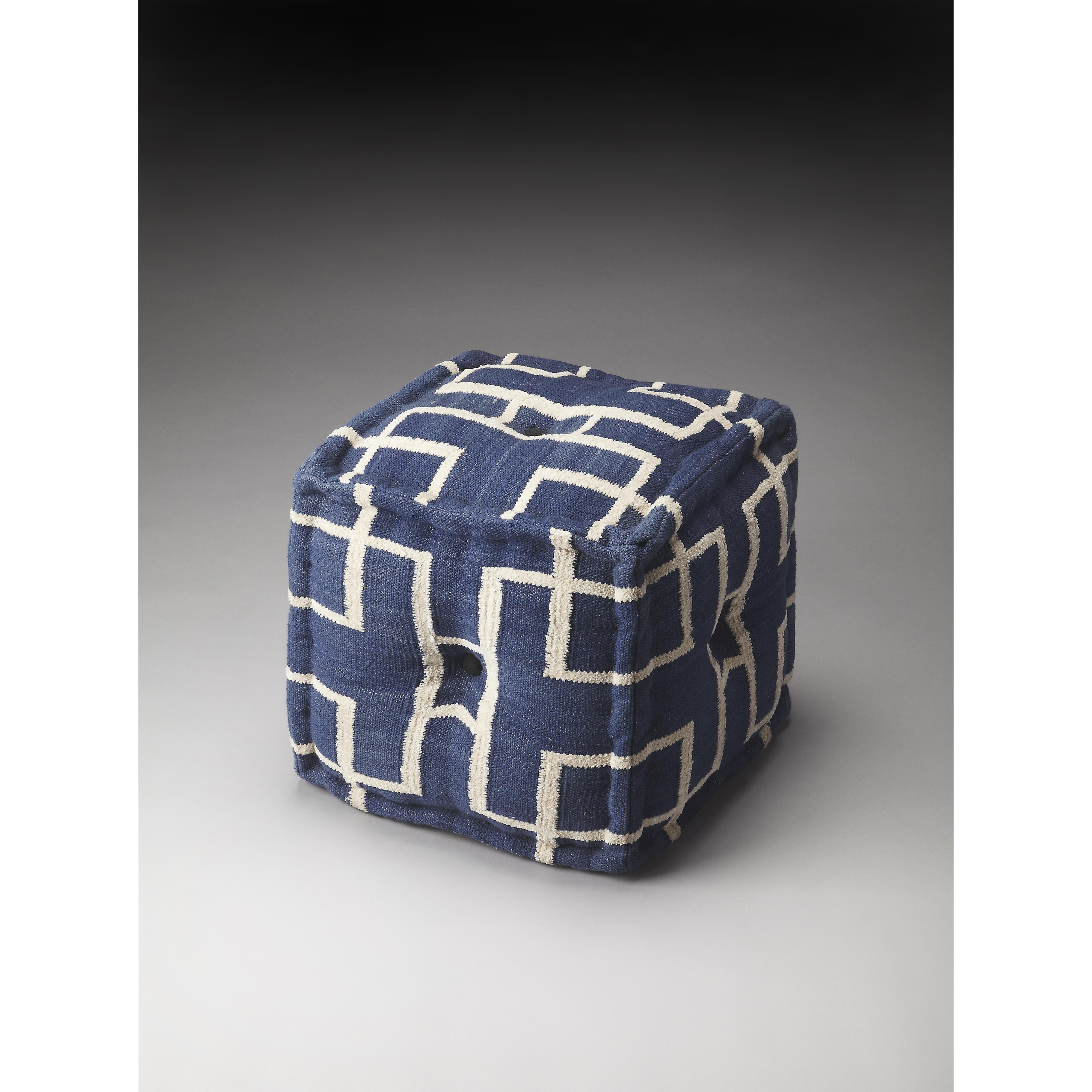 Accent Seating Pouffe by Butler Specialty Company at Mueller Furniture