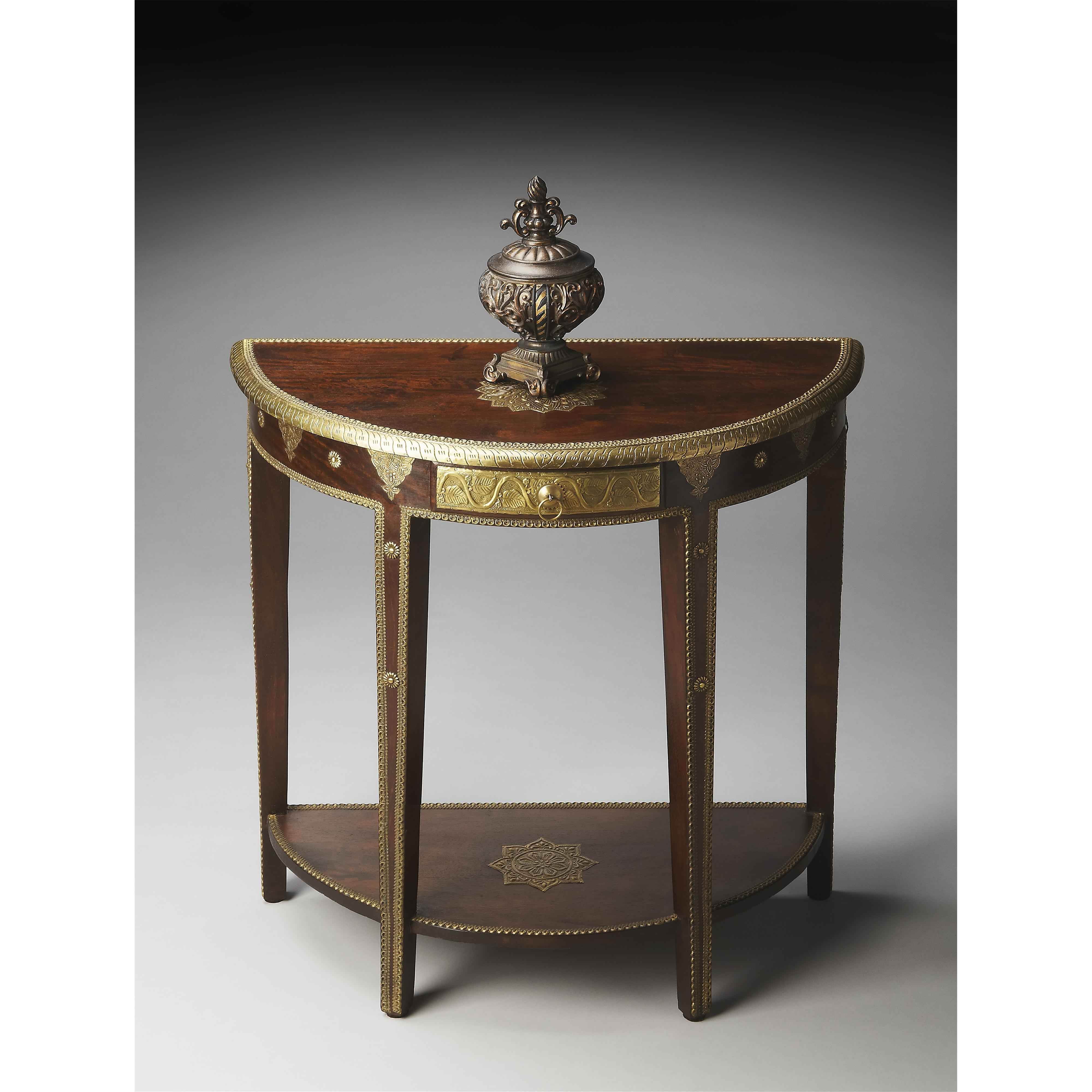 Artifacts Demilune Console Table by Butler Specialty Company at Mueller Furniture