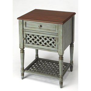 Chadway Rustic Blue End Table