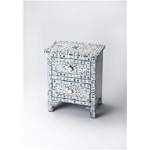 Vivienne Blue Bone Inlay Accent Chest