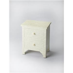 Vivienne White Bone Inlay Accent Chest