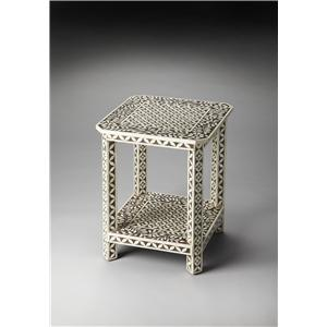 Butler Specialty Company Bone Inlay Side Table
