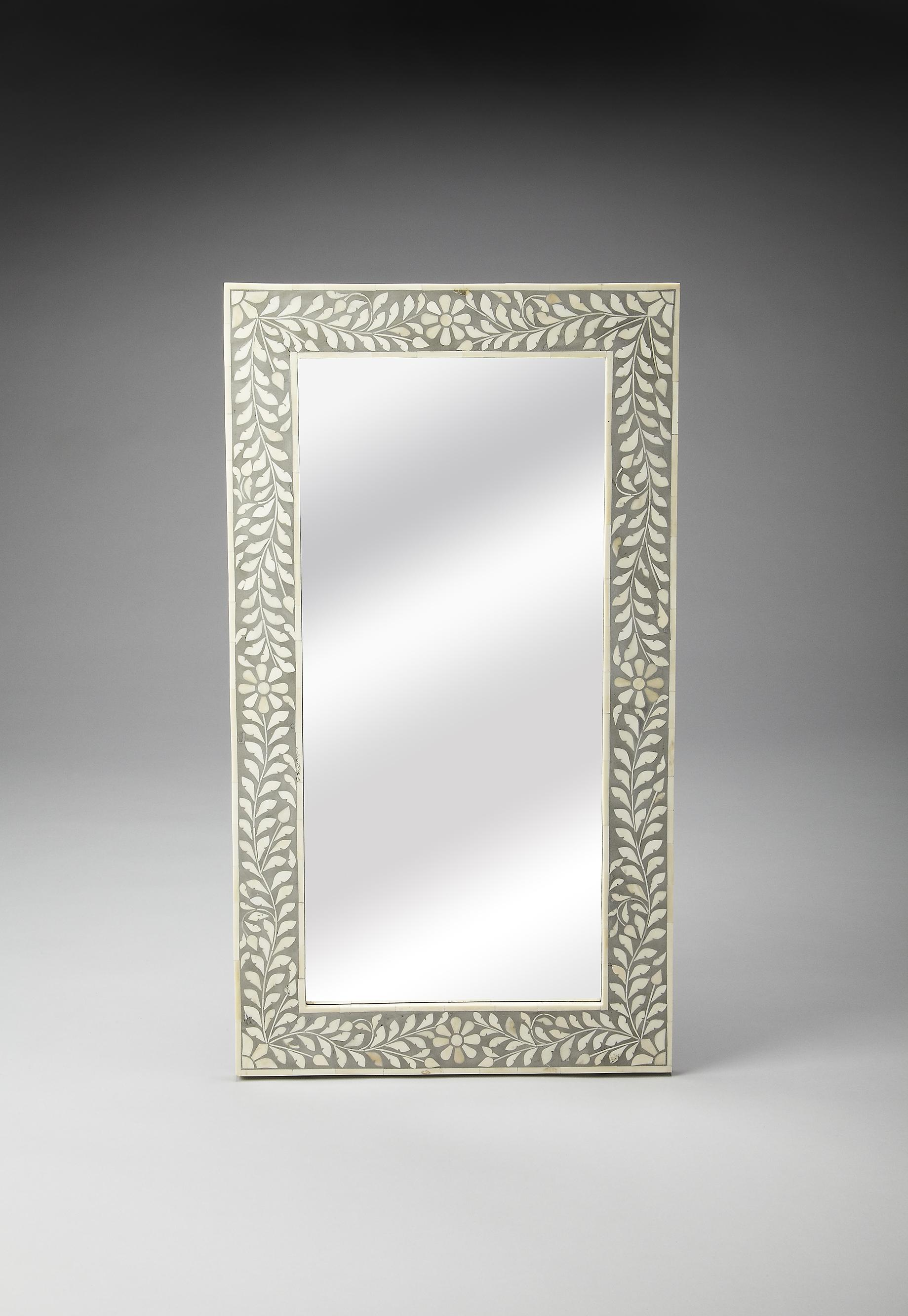 Bone Inlay Wall Mirror by Butler Specialty Company at Jacksonville Furniture Mart