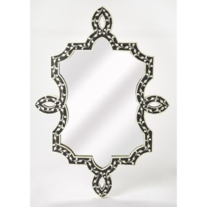 Haifa Black Bone Inlay Wall Mirror