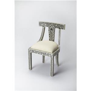 Black Bone Inlay Accent Chair