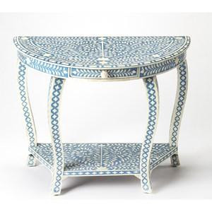 Darrieux Blue Demilune Console Table