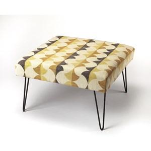 Fashionista Cotton Upholstered Ottoman