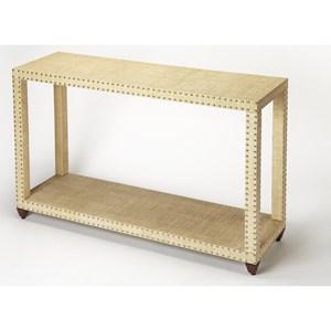 Danilo Cream Raffia Console Table